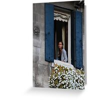 Portrait of a young venetian woman Greeting Card