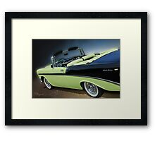 Top Down Two Tone Framed Print
