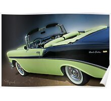 Top Down Two Tone Poster