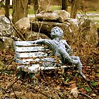 Sitting Statue by lisa roberts