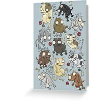 Dog Beans Greeting Card