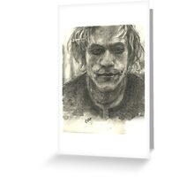 Heath Ledger-Joker Greeting Card