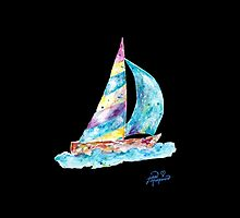 Sailboat no splots by Jan Marvin by Jan Marvin