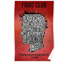 Typography Tyler Durden Uncensored Poster