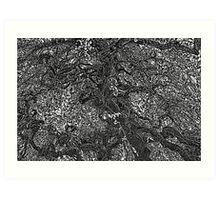 TEXTURED ART OF A TREE Art Print