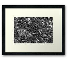 TEXTURED ART OF A TREE Framed Print