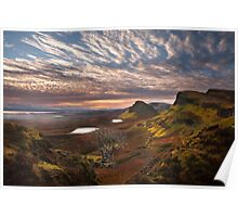 Quiraing at Sunrise. Trotternish. Isle of Skye. Scotland. Poster