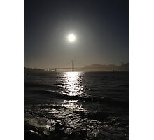 Sunset at Golden gate Photographic Print