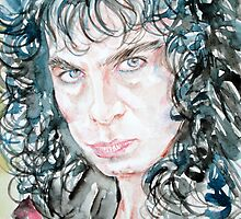 RONNIE JAMES DIO watercolor portrait by lautir