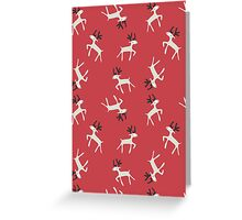 reindeer pattern Greeting Card
