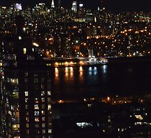 East River at Night by Spencer Williams