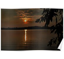 Lake Sunset Poster