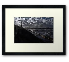 Storm In Blackpool Framed Print