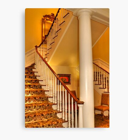 Staircase In Old Historic Charleston Canvas Print