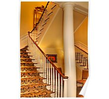 Staircase In Old Historic Charleston Poster