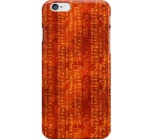 Vintage Music on Brown iPhone Case/Skin