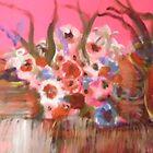 prettty flowers in pink by joanewyte47
