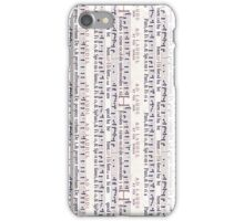 Vintage Music on White iPhone Case/Skin