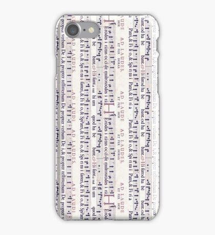 Vintage Music on White iPhone Case/Skin