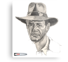 Indiana Jones Portrait Metal Print