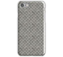 Silver Metal Grid Pattern iPhone Case/Skin