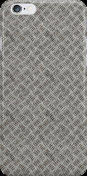 Silver Metal Grid Pattern by pjwuebker