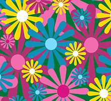 Funky Flowers Phone Case by Louise Parton