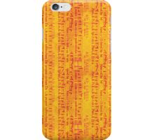 Red Music on Orange iPhone Case/Skin