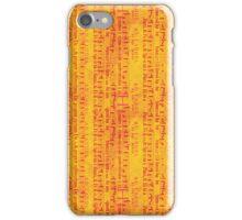 Red Music on Orange iPhone Case/Skin