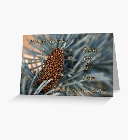 Blue atlas cedar holiday card Greeting Card