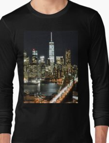 Freedom Tower at Night Long Sleeve T-Shirt