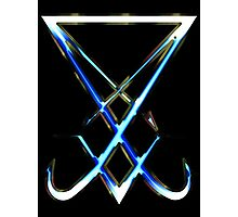 THE SIGIL OF LUCIFER - cold metal Photographic Print