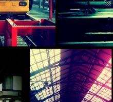 Trains Collage Sticker