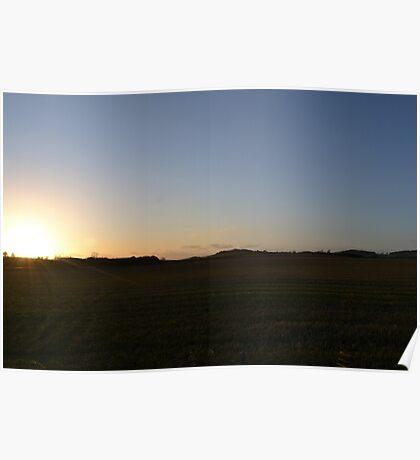Scottish Summer Sunset Poster