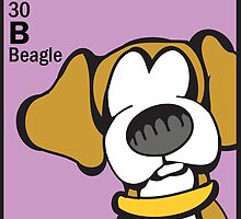 Beagle - The Dog Table by Angry Squirrel Studio