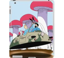 Tintin is going to visit the rabbit mob iPad Case/Skin