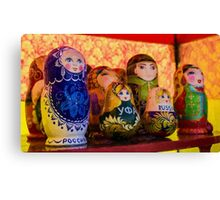 Funky Russian Puzzle Dolls Canvas Print