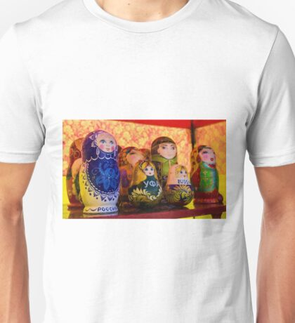 Funky Russian Puzzle Dolls Unisex T-Shirt