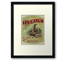 Goblin Scotch Whiskey Framed Print