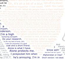 BBC Sherlock Holmes Typography Sticker