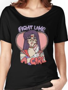 Sailor Moon - Fight Like A Sailor (Sailor Mars) Women's Relaxed Fit T-Shirt
