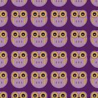 Purple Owls - iPad Case by Louise Parton