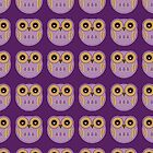 Purple Owls - Phone Case by Louise Parton