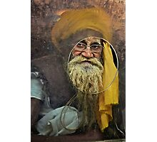 Yellow Turban at the Window Photographic Print