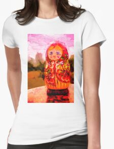 Traditional Russian Matryoshka Nesting Puzzle Dolls Womens Fitted T-Shirt