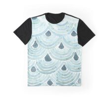 Painted Green Pattern Graphic T-Shirt