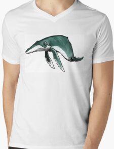 Happy Humpback Mens V-Neck T-Shirt
