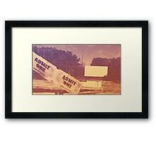 Drive-in Theater by Jan Marvin Framed Print