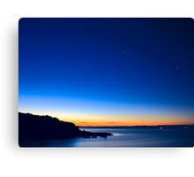 Beautiful sunrise with visible stars Canvas Print