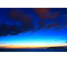 Beautiful sunset with visible stars Photographic Print